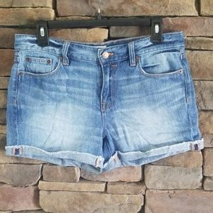 J. CREW Denim Liza Shorts.